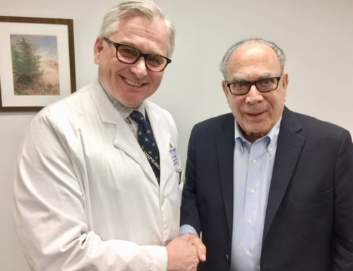 Dr. Norins meets current president of Infectious Diseases Society of America