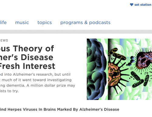 NPR features Alzheimer's Germ Quest, Inc. in article on infectious possibilities of Alzheimer's disease