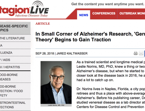 "Alzheimer's ""Germ Theory"" Gaining Traction, Reports Contagion newsmagazine on infectious disease"