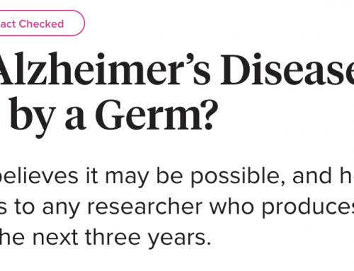 In the News: Alzheimer's Germ Quest Featured in Healthline